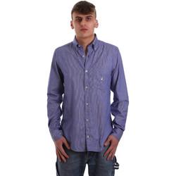 Oblačila Moški Srajce z dolgimi rokavi Navigare NV91068 BD Modra