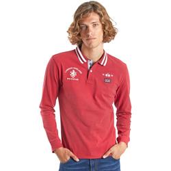 Oblačila Moški Polo majice dolgi rokavi La Martina OMP325 JS005 Rdeča