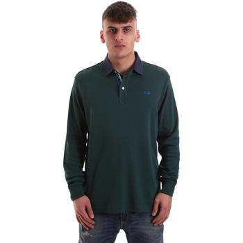 Oblačila Moški Polo majice dolgi rokavi La Martina OMP007 JS169 Zelena