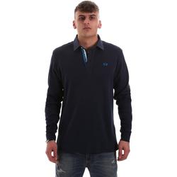 Oblačila Moški Polo majice dolgi rokavi La Martina OMP007 JS169 Modra