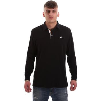 Oblačila Moški Polo majice dolgi rokavi La Martina OMP007 JS169 Črna