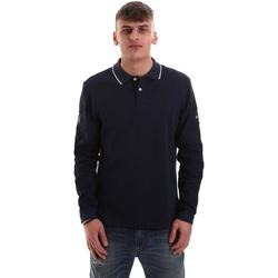 Oblačila Moški Polo majice dolgi rokavi La Martina OMPM36 JS169 Modra
