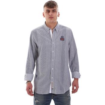 Oblačila Moški Srajce z dolgimi rokavi La Martina OMC021 PP472 Biely