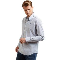 Oblačila Moški Srajce z dolgimi rokavi La Martina OMC016 PP462 Modra