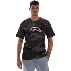 Oblačila Moški Majice s kratkimi rokavi Sprayground SP018SBLA Črna
