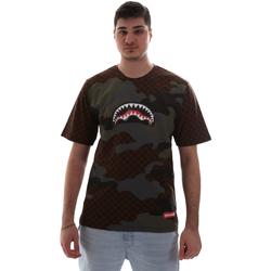 Oblačila Moški Majice s kratkimi rokavi Sprayground SP018SBRO Rjav