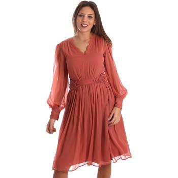 Oblačila Ženske Kratke obleke Fracomina FR19FMREMI Roza