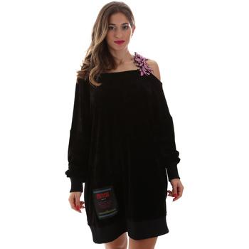Oblačila Ženske Kratke obleke Versace B6HUB77011684899 Črna