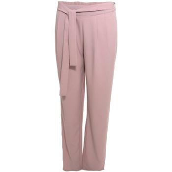 Oblačila Ženske Lahkotne hlače & Harem hlače Smash S1829415 Roza