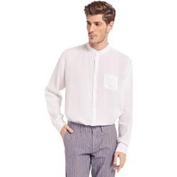Oblačila Moški Srajce z dolgimi rokavi Gaudi 011BU45001 Biely