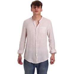 Oblačila Moški Srajce z dolgimi rokavi Gaudi 011BU45001 Bež