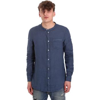 Oblačila Moški Srajce z dolgimi rokavi Gaudi 011BU45001 Modra