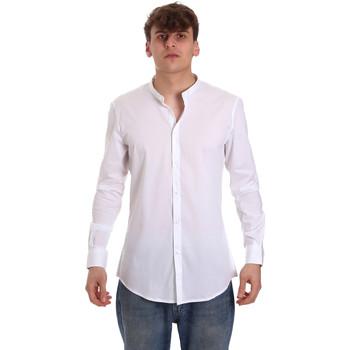 Oblačila Moški Srajce z dolgimi rokavi Gaudi 011BU45013 Biely