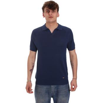 Oblačila Moški Polo majice dolgi rokavi Gaudi 011BU53010 Modra