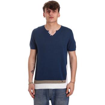 Oblačila Moški Majice s kratkimi rokavi Gaudi 011BU53021 Modra
