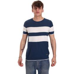Oblačila Moški Majice s kratkimi rokavi Gaudi 011BU53023 Modra