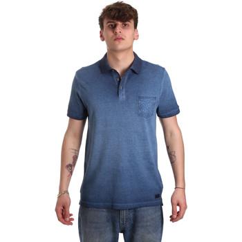 Oblačila Moški Polo majice kratki rokavi Gaudi 011BU64017 Modra