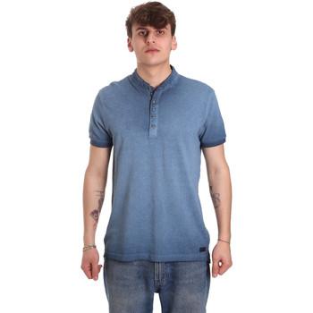 Oblačila Moški Polo majice kratki rokavi Gaudi 011BU64018 Modra