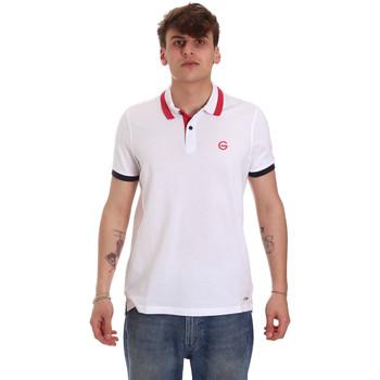 Oblačila Moški Polo majice kratki rokavi Gaudi 011BU64043 Biely