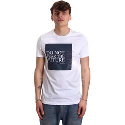Oblačila Moški Majice s kratkimi rokavi Gaudi 011BU64067 Biely