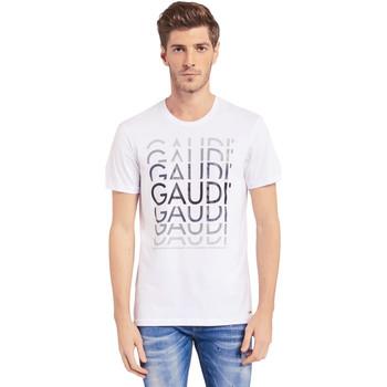 Oblačila Moški Majice s kratkimi rokavi Gaudi 011BU64068 Biely