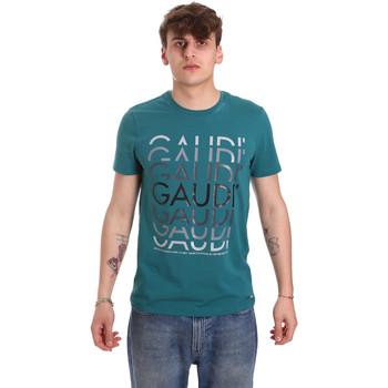 Oblačila Moški Majice s kratkimi rokavi Gaudi 011BU64068 Zelena