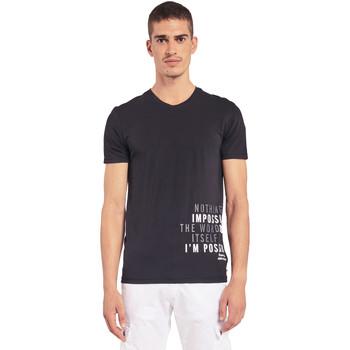 Oblačila Moški Majice s kratkimi rokavi Gaudi 011BU64071 Črna