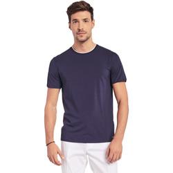 Oblačila Moški Majice s kratkimi rokavi Gaudi 011BU64087 Modra