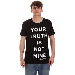 Oblačila Moški Majice s kratkimi rokavi Gaudi 011BU64107 Črna