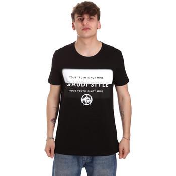 Oblačila Moški Majice s kratkimi rokavi Gaudi 011BU64108 Črna