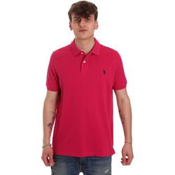 Oblačila Moški Polo majice kratki rokavi U.S Polo Assn. 55957 41029 Roza