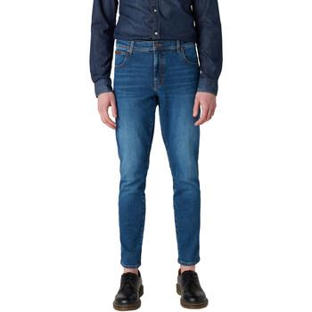 Oblačila Moški Kavbojke slim Wrangler W12ST112E Modra