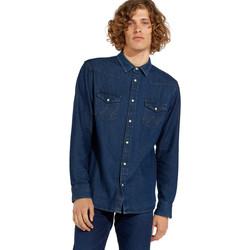 Oblačila Moški Srajce z dolgimi rokavi Wrangler W5MSLW301 Modra
