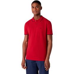 Oblačila Moški Polo majice kratki rokavi Wrangler W7D5K4X47 Rdeča