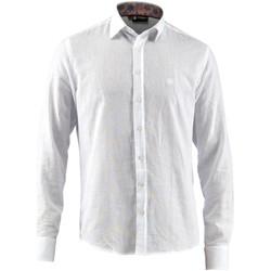 Oblačila Moški Srajce z dolgimi rokavi Lumberjack CM80846 001 603 Biely