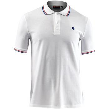 Oblačila Moški Polo majice kratki rokavi Lumberjack CM45940 009 506 Biely