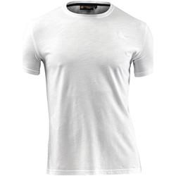 Oblačila Moški Majice s kratkimi rokavi Lumberjack CM60343 004 517 Biely