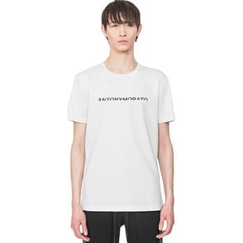 Oblačila Moški Majice s kratkimi rokavi Antony Morato MMKS01754 FA100144 Biely