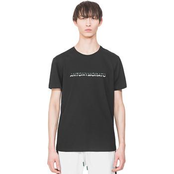 Oblačila Moški Majice s kratkimi rokavi Antony Morato MMKS01754 FA100144 Črna