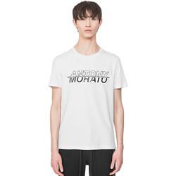 Oblačila Moški Majice s kratkimi rokavi Antony Morato MMKS01816 FA100144 Biely