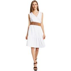 Oblačila Ženske Kratke obleke Gaudi 011BD15037 Biely