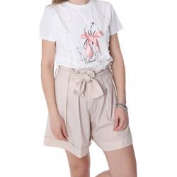 Oblačila Ženske Kratke hlače & Bermuda Fracomina FR20SP150 Bež