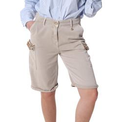 Oblačila Ženske Kratke hlače & Bermuda Fracomina FR20SP116 Bež