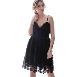 Oblačila Ženske Kratke obleke Fracomina FR20SP531 Črna