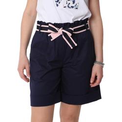 Oblačila Ženske Kratke hlače & Bermuda Fracomina FR20SP606 Modra