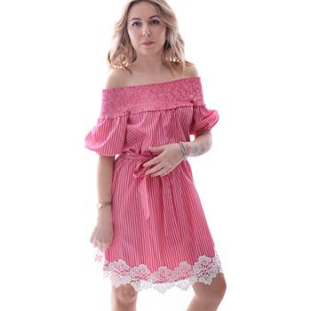 Oblačila Ženske Kratke obleke Fracomina FR20SP526 Rdeča