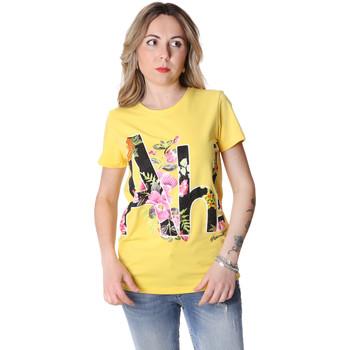 Oblačila Ženske Majice s kratkimi rokavi Fracomina FR20SP368 Rumena