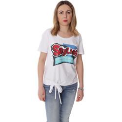 Oblačila Ženske Majice s kratkimi rokavi Fracomina FR20SP303 Biely