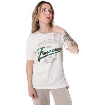 Oblačila Ženske Majice s kratkimi rokavi Fracomina FR20SP305 Biely