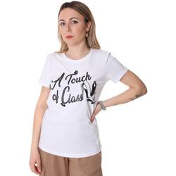 Oblačila Ženske Majice s kratkimi rokavi Fracomina FR20SP306 Biely